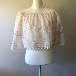 Tularosa Crochet Pom-Pom Top - Size XS